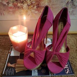 Fuscia Pink Bamboo Heels